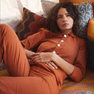 NWOT Christy Dawn Painter Jumpsuit in Rust